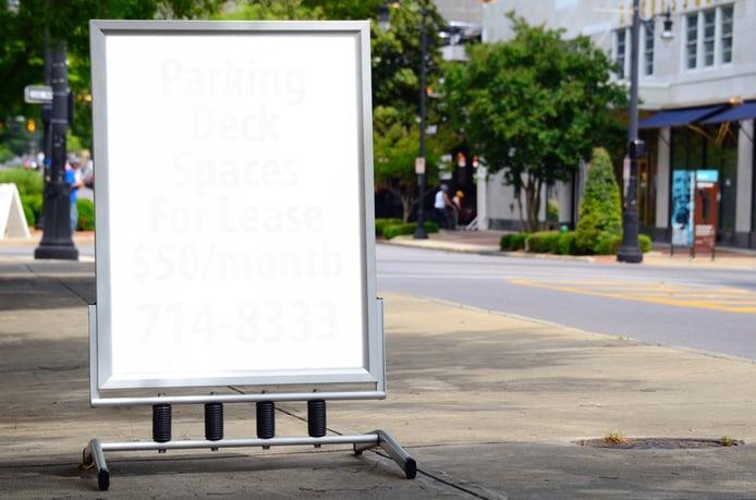 Blank Sign on a city sidewalk.jpeg